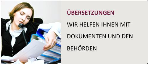 Übersetzungen - Wir helfen mit Dokumenten und den Behörden