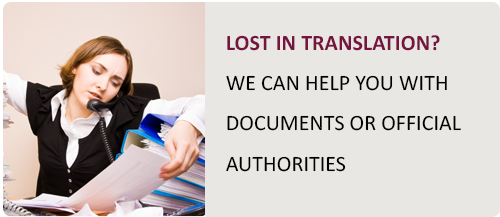 Translations of documents and help with authorities